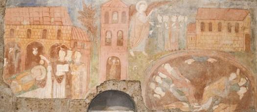 Affreschi nel ciborio di Santa Maria ad Rupes rappresentanti la Suppentonia