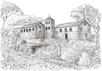 Ipotetica ricostruzione della badia di Sant'Anastasio del dott. Architetto Massimiliano delli Poggi